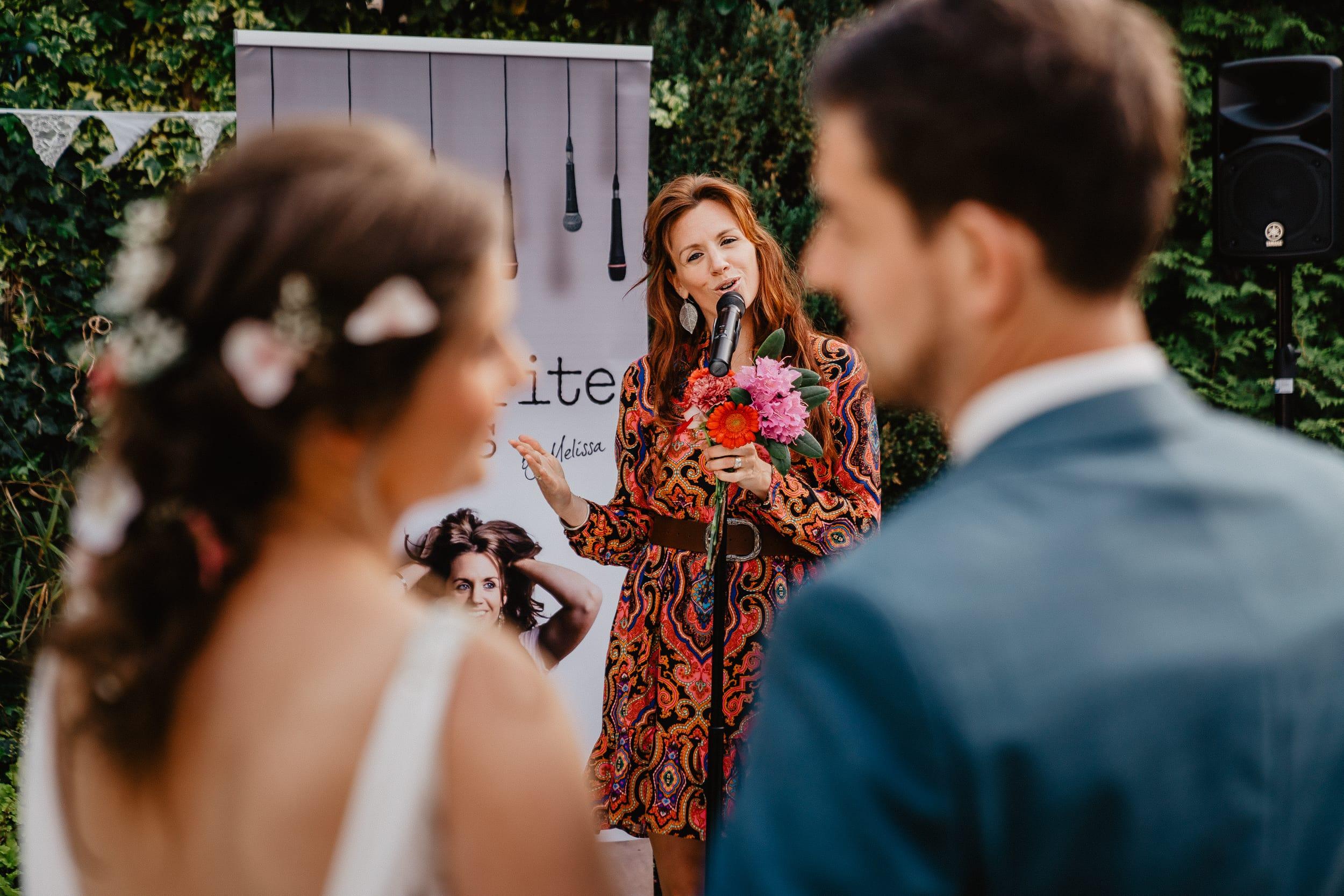 Melissa van Belleghem ceremonie zangeres